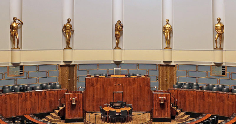"""""""Wäinö Aaltosen veistossarja Työ ja tulevaisuus viitoittaa eduskunnan ohjelmatyötä."""" Kuva Tiina Tuukkanen - CC BY-SA 4.0"""